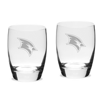 Set of 2 Etched Luigi Bormioli Water Glasses (online only)