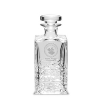 Etched Luigi Bormioli Textured Decanter