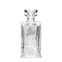 Etched 26.5 oz Luigi Bormioli Textured Decanter