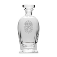 Etched Luigi Bormioli Spirits Decanter