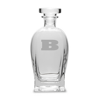 Etched 23.75 oz Luigi Bormioli Spirits Decanter