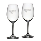 Set of 2 Etched 20 oz Riedel Red Wine Glasses