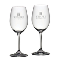 Set of 2 Etched 20 oz Riedel Red Wine Glasses (Online Only)