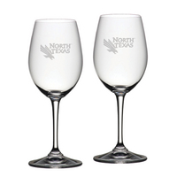 Set of 2 Etched Riedel Red Wine Glasses (online only)