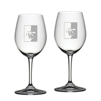 Set of 2 Etched Riedel White Wine Glasses (online only)