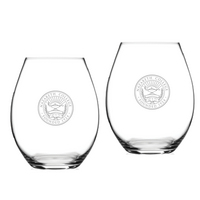 Set of 2 Etched Riedel Stemless Wine Glasses (online only)