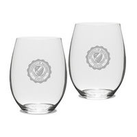 Gift Set of 2 Etched Riedel Stemless Wine Glasses (online only)