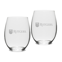 Gift Set of 2 Etched 21 oz Riedel Stemless Wine Glasses (Online Only)