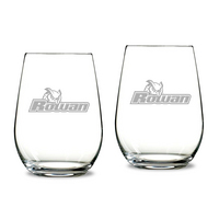 Gift Set of 2 Etched 13.25 oz Riedel Stemless Wine Glasses (Online Only)