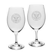Gift Set of 2 Etched Riedel Wine Glasses