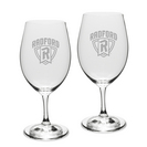 Gift Set of 2 Etched 18 oz Riedel Wine Glasses