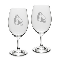 Gift Set of 2 Etched Riedel Wine Glasses (online only)