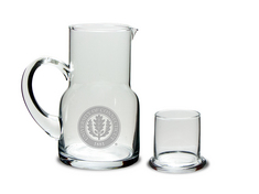 Etched Water Carafe & Glass 5.5 x 3H (Online Only)
