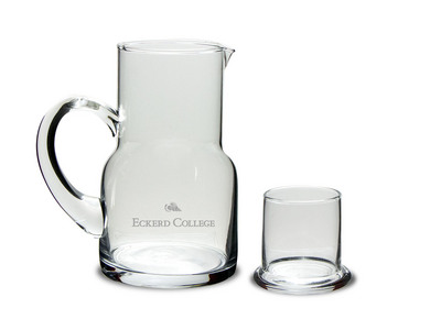 Etched Water Carafe & Glass