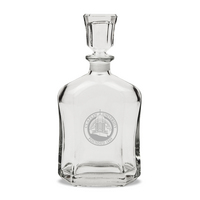 Deep Etched 23.75 oz Whiskey Decanter