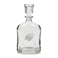 Deep Etched Whiskey Decanter