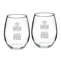 Set of 2 Stemless Wine Glasses 21oz  Class 2021