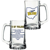 University of Toledo Glass Tankard