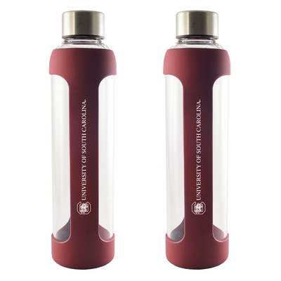 20 oz Silicone Glass Water Bottle