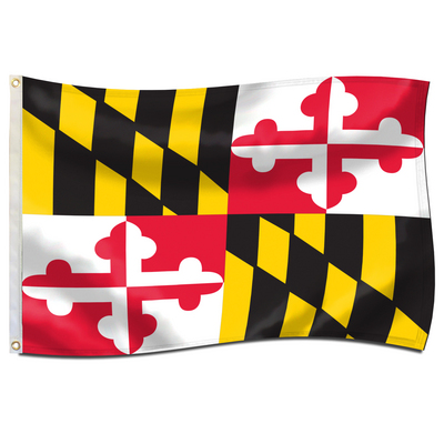 University of Maryland Screen Printed Flag