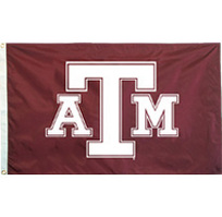 Texas A&M Aggies Screen Printed Flag