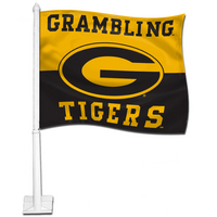 Grambling State Tigers Car Flag with Plastic Rod