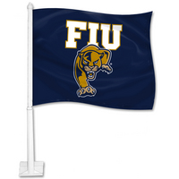 FIU Car Flag with Plastic Rod