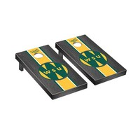 College Vault Wayne State Warriors Regulation Cornhole Game Set Onyx Stained Stripe Version