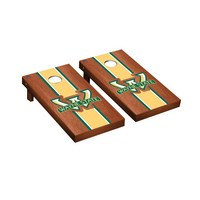 Wayne State Warriors Regulation Cornhole Game Set Rosewood Stained Stripe Version