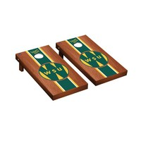 College Vault Wayne State Warriors Regulation Cornhole Game Set Rosewood Stained Stripe Version