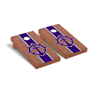 University Of Portland Pilots Regulation Cornhole Game Set Rosewood Stained Stripe Wooden