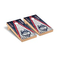 Connecticut UCONN Huskies Regulation Cornhole Game Set Triangle Weathered Version
