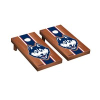 Connecticut UCONN Huskies Regulation Cornhole Game Set Rosewood Stained Stripe Version