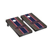 Connecticut UCONN Huskies Regulation Cornhole Game Set Onyx Stained Stripe Version