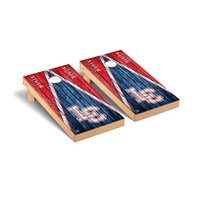 Lewis Clark Warriors Regulation Cornhole Game Set Triangle Weathered Version