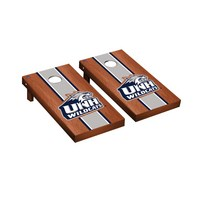 New Hampshire Wildcats Regulation Cornhole Boards Game Set Rosewood Stained Stripe Version