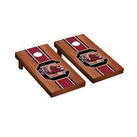 South Carolina Gamecocks Regulation Cornhole Game Set Rosewood Stained Stripe Version