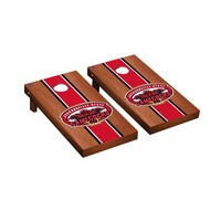 Jacksonville State JSU Gamecocks Regulation Cornhole Game Set Rosewood Stained Stripe Version
