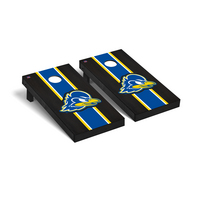 Delaware Blue Hens Regulation Cornhole Game Set Onyx Stained Stripe Version