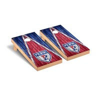 University of Pennsylvania Penn Quakers Regulation Cornhole Game Set Triangle Weathered Version
