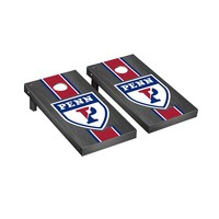 University of Pennsylvania Quakers Regulation Cornhole Game Set Onyx Stained Stripe Version