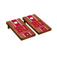 Boston Terriers Regulation Cornhole Game Set Rosewood Stained Stripe Version