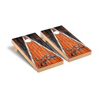 Rochester Institute of Technology Tigers Regulation Cornhole Game Set Weathered Triangle Version