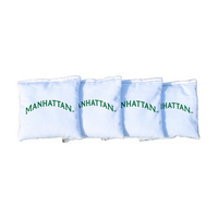 Manhattan Jaspers White Regulation Corn Filled Cornhole Bags