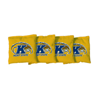 4 Kent State Yellow Regulation Corn Filled Cornhole Bags