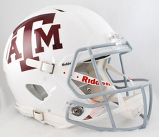 Texas A&M Speed Authentic HelmetWhite