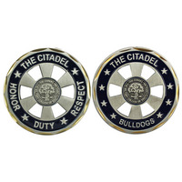 CHALLENGE COIN WITH SCHOOL MOTTO