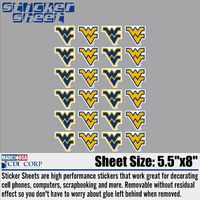 WVU Mountaineers Sticker Sheet