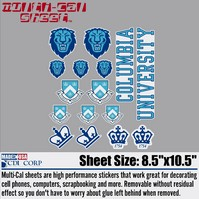 Columbia Lions Sticker Sheet