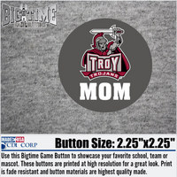 Mom and Mascot Magnet Button